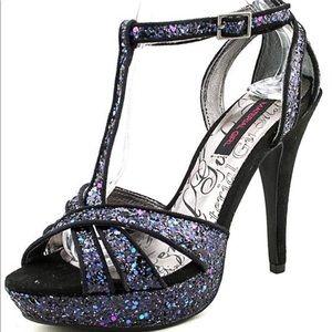 Material Girl Glitter Platform Heel